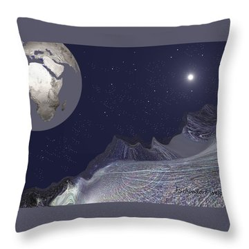 Throw Pillow featuring the digital art 1657 - Worlds - 2017 by Irmgard Schoendorf Welch