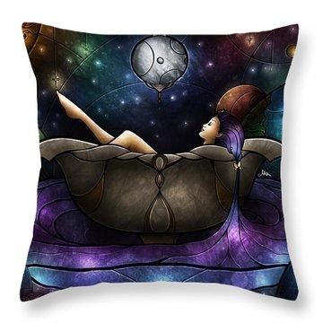 Worlds Away Throw Pillow