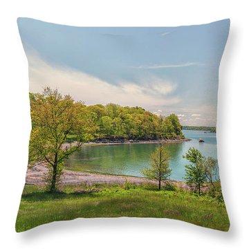 Worlds End Hingham Massachusetts Throw Pillow