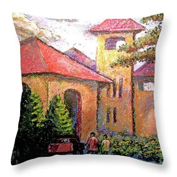 Worlds Fair Pavilion In Forest Park Throw Pillow