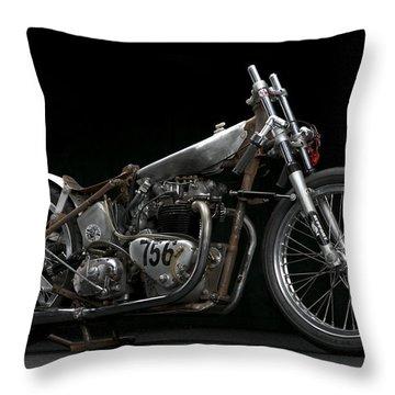 World's Fastest Vintage Triumph Throw Pillow