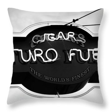 Worlds Finest Cigar Throw Pillow