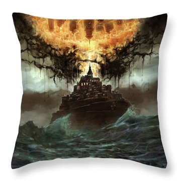 Worlds Merge Throw Pillow