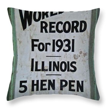 World's Record Throw Pillow by Gwyn Newcombe