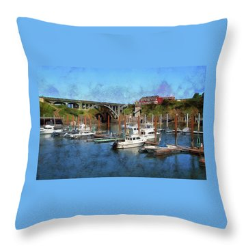 Worlds Smallest Harbor Throw Pillow