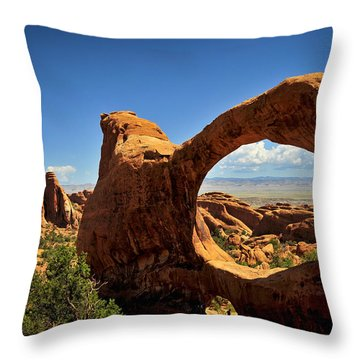 Worm Hole Throw Pillow by Skip Hunt
