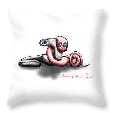 Worm Hug. Throw Pillow