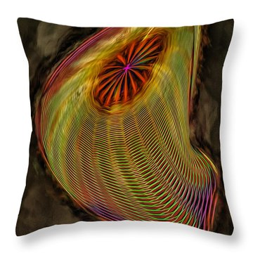 Wormhole In Space Throw Pillow