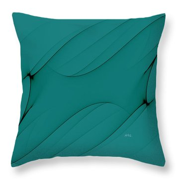 Wormhole In Turquoise  Throw Pillow by Angela A Stanton