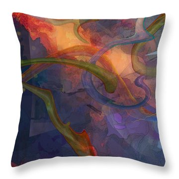 Wormholes Throw Pillow by David Klaboe