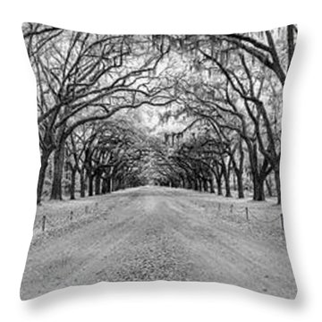 Throw Pillow featuring the photograph Wormsloe Pathway by Jon Glaser