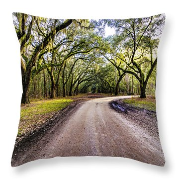 Throw Pillow featuring the photograph Wormsloe Road by Anthony Baatz