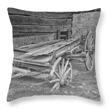 Worn And Broken Throw Pillow by Geraldine DeBoer