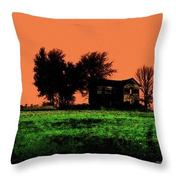 Worn House Throw Pillow