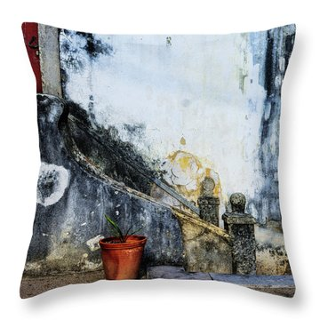 Worn Palace Stairs Throw Pillow by Marion McCristall