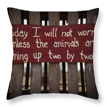 Worry Throw Pillow