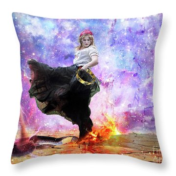 Worship Warrior Throw Pillow