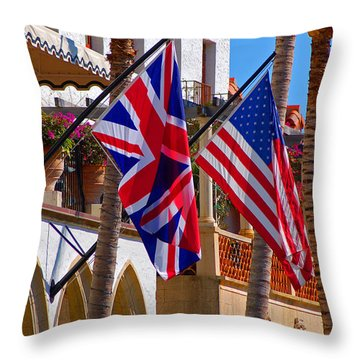 Worth Flags Throw Pillow