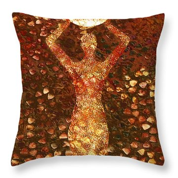 Worth Throw Pillow by Jacky Gerritsen