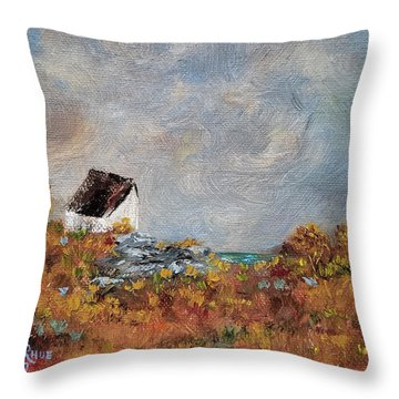 Throw Pillow featuring the painting Worth The Climb by Judith Rhue