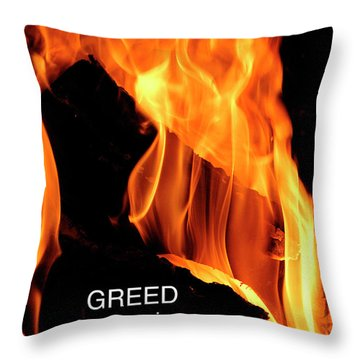 Throw Pillow featuring the photograph worthy of HELL fire by Paul W Faust - Impressions of Light