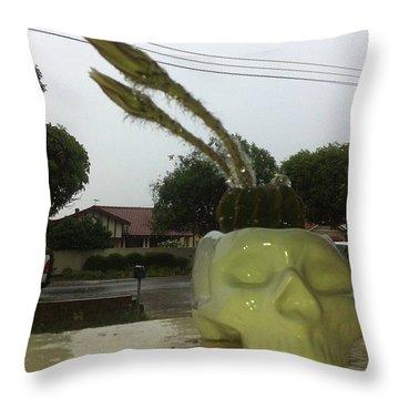 Rainy Summer Throw Pillow