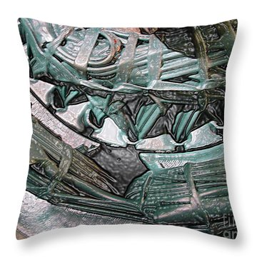 Wound Tight Throw Pillow by Ron Bissett
