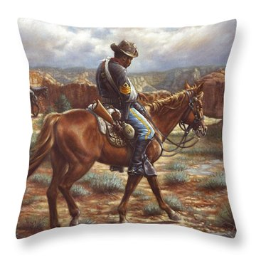 Throw Pillow featuring the painting Wounded In Action by Harvie Brown