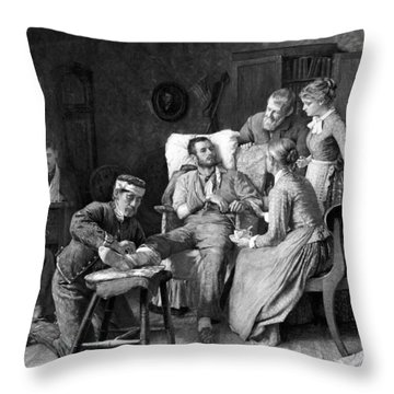 Wounded Soldier At The Battle Of Gettysburg Throw Pillow