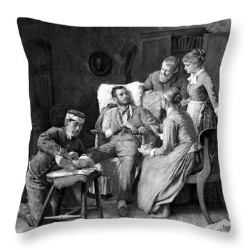 Wounded Soldier At The Battle Of Gettysburg Throw Pillow by War Is Hell Store