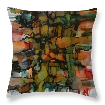 Woven Throw Pillow by Alika Kumar