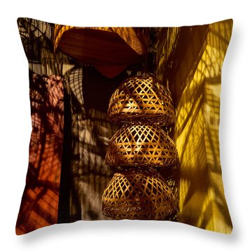 Woven Baskets Throw Pillow