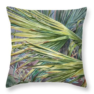 Woven Fronds Throw Pillow by Roxanne Tobaison