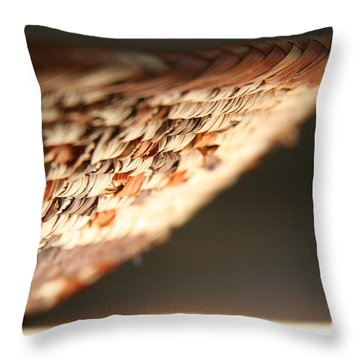 Throw Pillow featuring the photograph Woven by Lynn England