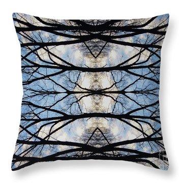 Woven Sky Throw Pillow