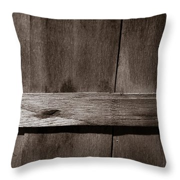 Woven Wood Throw Pillow by Chris Bordeleau