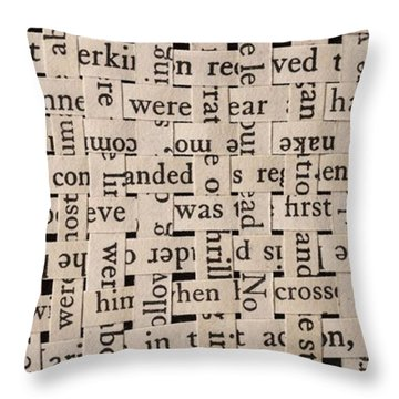Woven Words By Edward M. Fielding - Throw Pillow by Edward Fielding