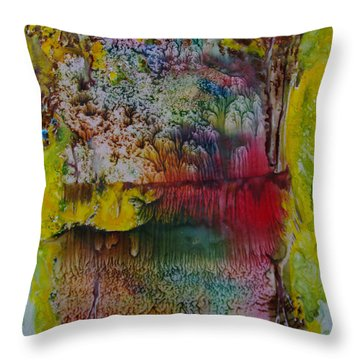 Wow- Exotic Landscape Throw Pillow