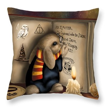 Wow I'm Harry Potter Throw Pillow