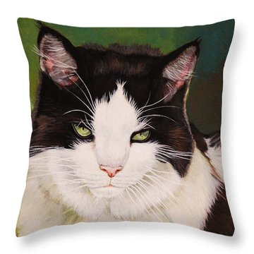Wozzle - Domestic Cat Throw Pillow
