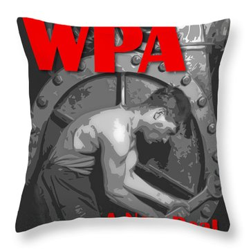 Throw Pillow featuring the digital art A New Deal For America by Chuck Mountain