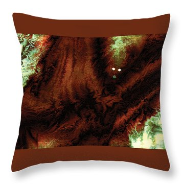 Throw Pillow featuring the digital art Wraith by Paula Ayers