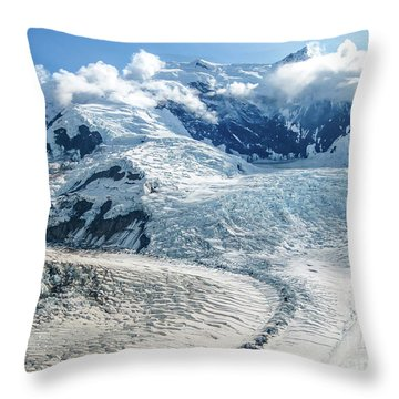 Wrangell Alaska Glacier Throw Pillow