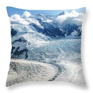 Wrangell Alaska Glacier Throw Pillow