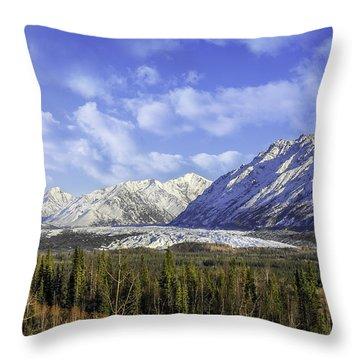 Wrangell Mountains Glacier Alaska Throw Pillow