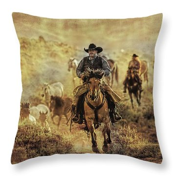 A Dusty Wyoming Wrangle Throw Pillow