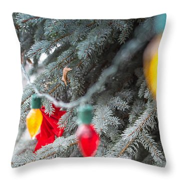 Wrap A Tree In Color Throw Pillow