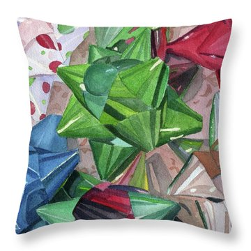 Throw Pillow featuring the painting Wrap It Up by Lynne Reichhart