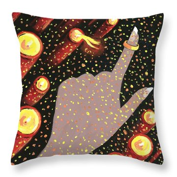 Wrapped Around My Finger Throw Pillow