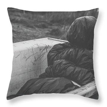 Wrapped Dead Body In Bath Tub, Csi Concept Throw Pillow